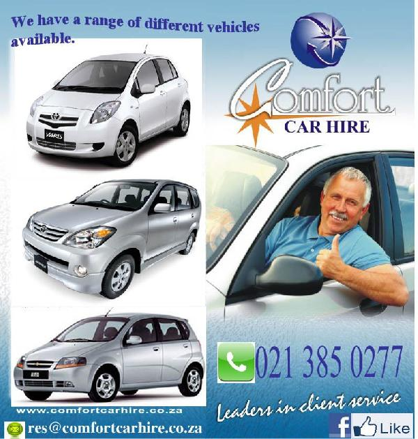 Comfort Car Hire South Africa