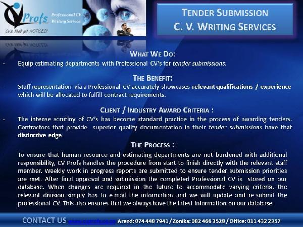 tender cv services